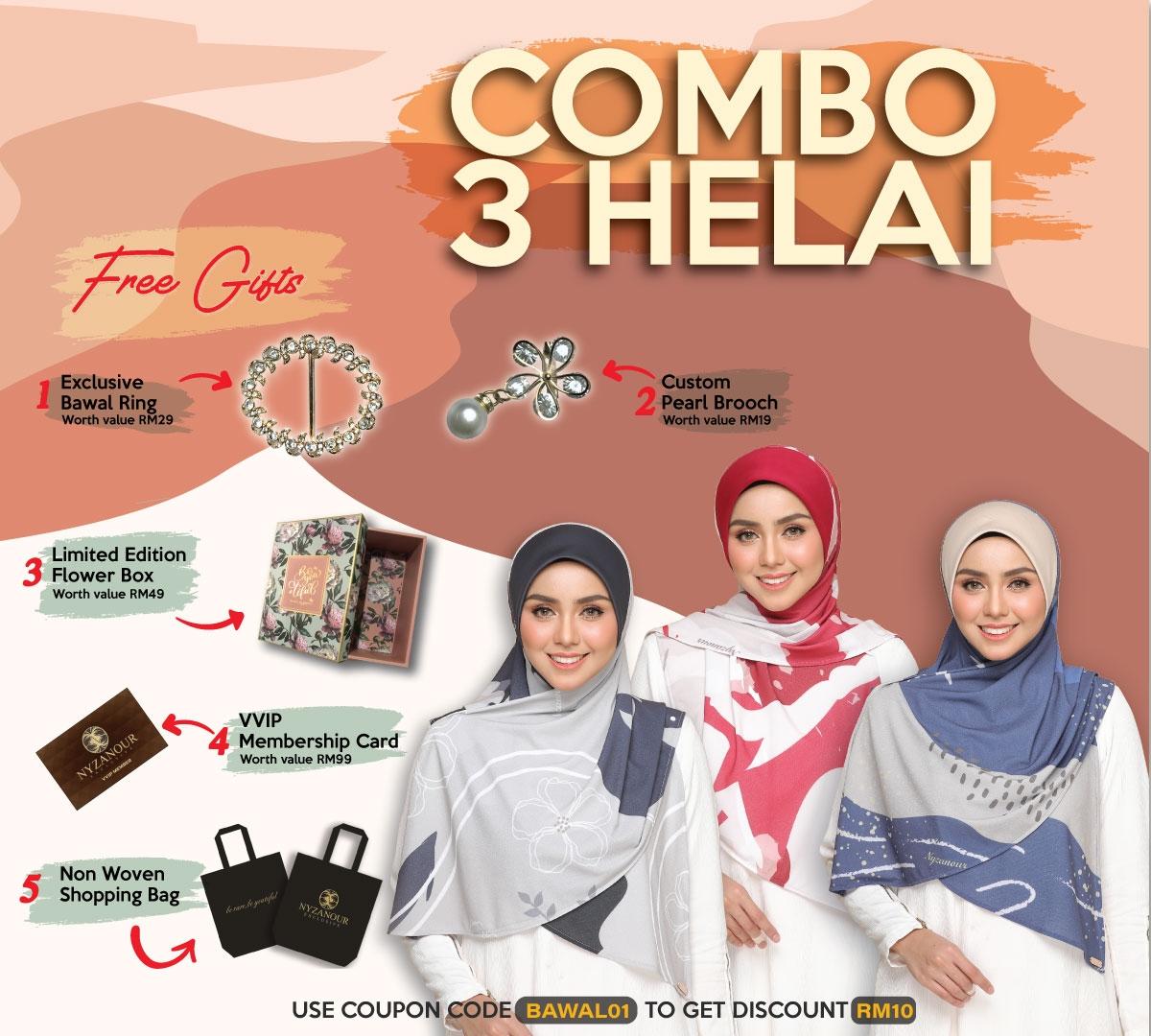 COMBO 3 HELAI